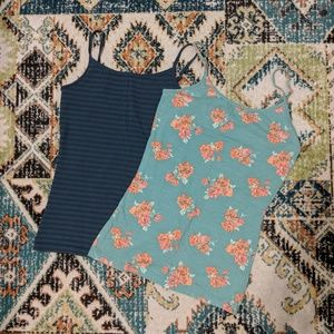 Stripe and Floral Pack of 2 Camis